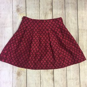 Banana Republic Red Skater Skirt Size 2